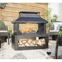 58281 Stonehurst Fireplace Firepit Chimenea Garden Log Burner Heater - La Hacienda