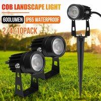 Landscape Lights 5W COB LED Waterproof IP65 Floodlight Lamp, for Outdoor Garden Aisle Yard Lawn Path Patio, Warm White 3000K (Warm White, 2pcs)