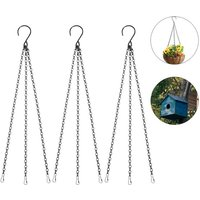 3 sets of hanging basket chain metal flower pot chain for flower basket, planters, bird feeder, bird cage, lanterns and ornaments - Langray