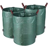3 x 300L Garden Bag Solid PE Garden Waste Bag - Freestanding and Collapsible - Garbage Bags for Garden Waste Green Lawn Foliage Cutter - Reusable