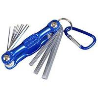 8 Piece Folding Tool Hex Key Set, Folding Hex Key Set, Allen Keys, Foldable for Easy Storage (L) - Langray