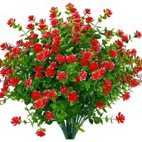 Artificial Fake Flowers Outdoor, Faux Plastic Greenery for