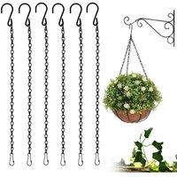 Flower Basket Chains 6 Pack Hanging Chains Metal Plant Hanging Chain Flower Pot Chain for Flower Basket, Planters, Bird Feeder, Birdcage, Lanterns