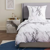 LangRay Gray and Beige Bed Linen Branch Pattern Duvet Cover Super Soft Breathable Microfiber Bed Linen 1 duvet cover (200 * 230CM) + 2 pillowcases (51