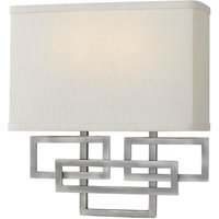 Elstead Lanza - 2 Light Indoor Wall Light Nickel, E14