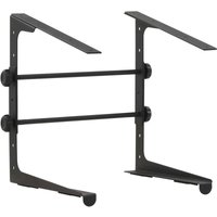 Laptop Stand Black 30.5x28x(24.5-37.5) cm Steel - VIDAXL