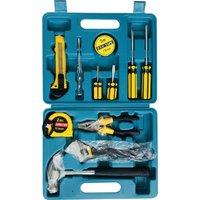 Large 12Pcs Household Hardware Hand Tool Set Hardware Toolbox Vehicle Emergency Kit Vehicle Emergency Toolbox Screwdriver Repair Kit,model:Yellow