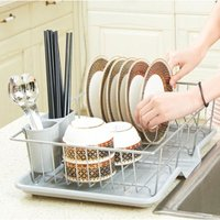 Large Dish Drying Rack Drainer Kitchen Sink Plate Draining Tray Cutlery Holder