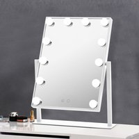 Livingandhome - Large Hollywood Makeup Dressing Mirror With 12 LED Light Touch Dimmable Bulb