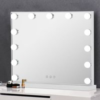 Livingandhome - Large Hollywood Makeup Dressing Mirror With 13 LED Light Touch Dimmable Bulb