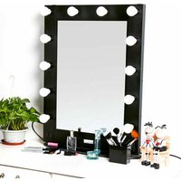 Large Vanity Mirror with Light Dressing Table Makeup Mirror with dimmer + Bulbs - LUVODI