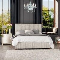 Estella Ottoman Storage Bed, Mirazzi Velvet, Pearl Single - Laurence Llewelyn-bowen