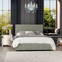 Estella Ottoman Storage Bed, Plush Velvet, Duck Egg Single - Laurence Llewelyn-bowen
