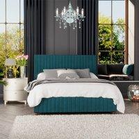 Estella Ottoman Storage Bed, Plush Velvet, Emerald Single - Laurence Llewelyn-bowen