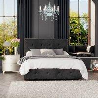 Hesper Ottoman Storage Bed, Mirazzi Velvet, Black Single - Laurence Llewelyn-bowen