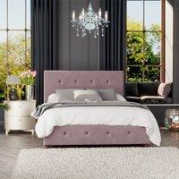 Hesper Ottoman Storage Bed, Plush Velvet, Blush Single - Laurence Llewelyn-bowen