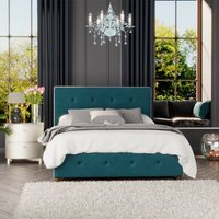 Hesper Ottoman Storage Bed, Plush Velvet, Emerald Single - Laurence Llewelyn-bowen