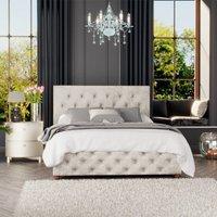 Luna Ottoman Storage Bed, Mirazzi Velvet, Pearl Single - Laurence Llewelyn-bowen