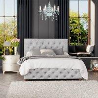 Laurence Llewelyn-Bowen Luna Ottoman Storage Bed, Mirazzi Velvet, Silver Single