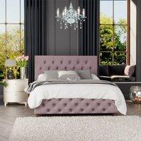 Luna Ottoman Storage Bed, Plush Velvet, Blush Single - Laurence Llewelyn-bowen
