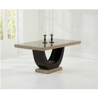 Netfurniture - Lavar Large Modern Kitchen Dining Marble Table - Brown Or Cream Brown Marble Large