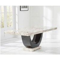 Netfurniture - Lavar Large Modern Kitchen Dining Marble Table - Brown Or Cream Cream Marble Large