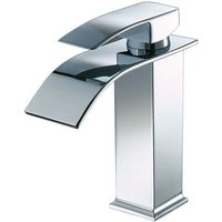 Lavatory faucet, copper valve body, waterfall faucet, washbasin, raised lavatory faucet