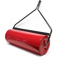 Wiltec - Lawn roller 35x100cm for the lawn tractor fillable with dirt wiper