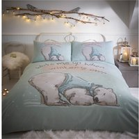 Bedmaker - Lazy Bear King Size Duvet Cover Set Aqua Bedding Quilt