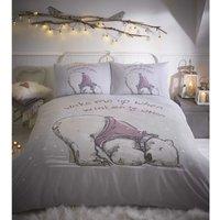 Lazy Bear Single Duvet Cover Set Grey Bedding Quilt - BEDMAKER