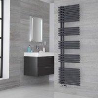 Lazzarini Way Bari Carbon Steel Designer Heated Towel Rail Anthracite 1700mm x 500mm