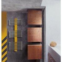 Lazzarini Way Siena Carbon Steel Designer Heated Towel Rail Chrome 1220mm x 470mm