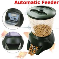 LCD 4L Automatic Feeder Fish Food Timer Pond Digital Battery Free - Mohoo