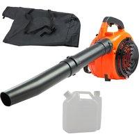 Leaf Blower Leaf Vacuum Shredder Petrol 26cc Lightweight Powerful 750W Machine - LIVINGANDHOME