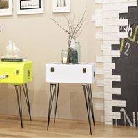 Leamon 1 Drawer Bedside Table by Brayden Studio - White