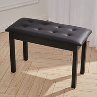 Livingandhome - Leather Piano Stool Keyboard Bench with Storage 49*34*75