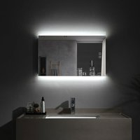 Lisa - 500 x 700 mm LED Bathroom Mirror Illuminated with Light Touch Sensor and Demister Anti-Fog Wall Mounted