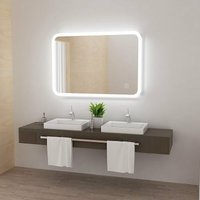 Lisa - 600 x 800 mm LED Bathroom Mirror with Light Touch Sensor and Demister Anti-Fog Wall Mounted