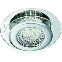 Ceiling light 28 cm Led Vesta, in chrome, crystal and mirror glass