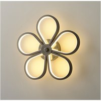 Stoex - Led Indoor Wall Light Modern Wall Sconce Creative Flower Wall Lamp Black for Bedroom Lounge Hallway Cafe Warm White
