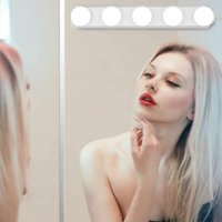 LED Mirror Lamp - 5 LED Bulbs - Hollywood Style - Makeup Lamp - Dimmable - USB - For Cosmetic Mirror, Bathroom, Dressing Table - White