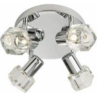 LED projector 4 chrome transparent glass bulbs