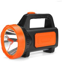 Maerex - LED Rechargeable Spotlight Torch camping garage home orange with sidelight