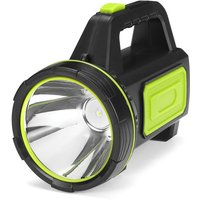 LED Rechargeable Spotlight Torch camping garage home green with sidelight