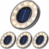 Zqyrlar - LED Solar Floor Lamp 4 Pack, 12 LEDs Solar Outdoor Lighting, Waterproof IP68, Street Light Lights, Buried Light For Path Garden Terrace