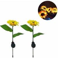 Led Solar Light, Sunflower Flower Light, Outdoor Garden