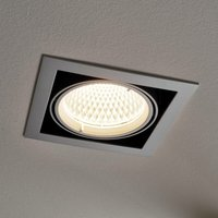 LED Spotlight Recessed Adin (modern) in Silver made of