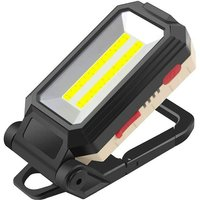 Briday - LED Torch Work Light, 10W LED Flood Light Rechargeable Portable Inspection Light Magnetic Flashlight with USB for Car Repair, Fishing,
