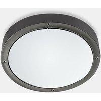 Leds-C4 Basic - Outdoor LED Round Flush Ceiling Light Basic Aluminium Grey 26cm 1488lm 4000K IP65