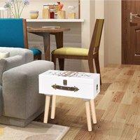 Leeroy 1 Drawer Bedside Table by Brayden Studio - White